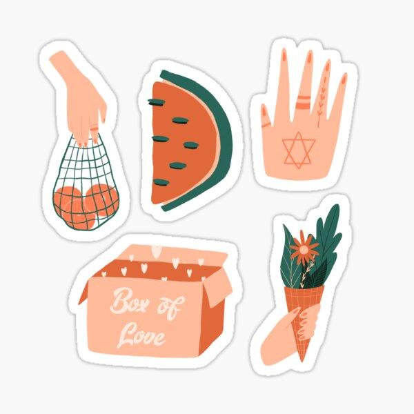 Summer floral foodies stickerset sticker set Sticker