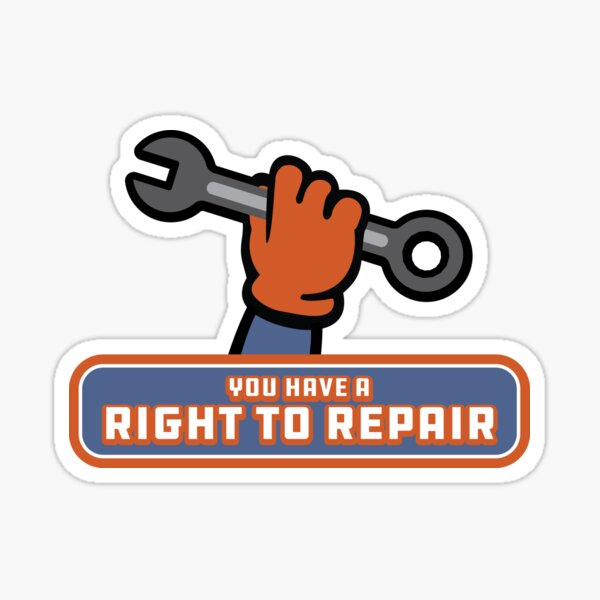 I Have A Right To Repair! Sticker