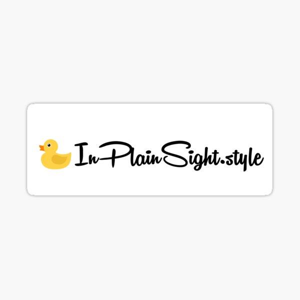 InPlainSight.style Website Decal Sticker