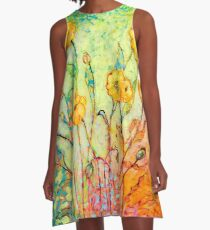 Rainbow Reflections A-Line Dress