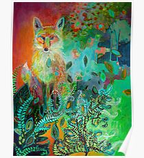 Fox in Forest Poster