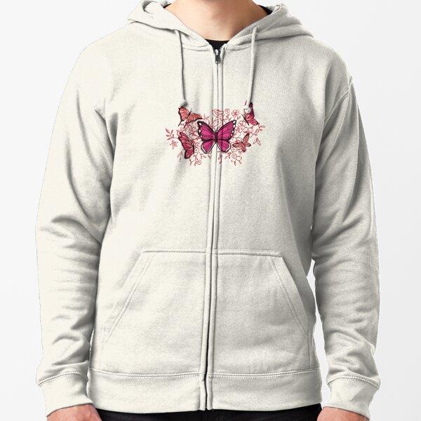 Butterflies  Zipped Hoodie
