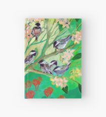 Chickadees in Spring Hardcover Journal