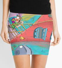 A Seaside Bedtime Story  Mini Skirt