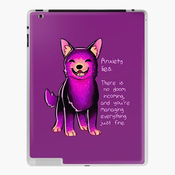 """Anxiety Lies"" Sparkle Pup iPad Skin"