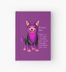 """Cuaderno de tapa dura """"La ansiedad miente"""" Sparkle Pup"""