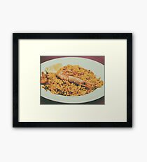 Traditional Valencian Paella With Seafood Framed Print