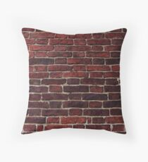 Old brick wall Throw Pillow