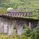 The Jacobite Steam train on the Glenfinnan Viaduct by derekbeattie