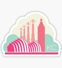 Kansas City in the Clouds - Pink Sticker