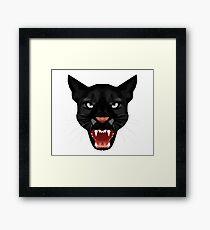 Katze Leopard Puma / Panther Gesicht Framed Print