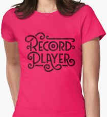Record Player Mono Womens Fitted T-Shirt
