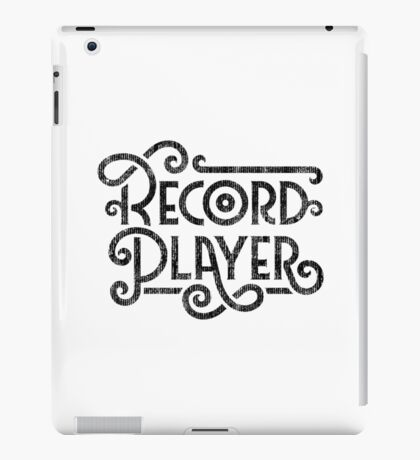 Record Player Mono iPad Case/Skin