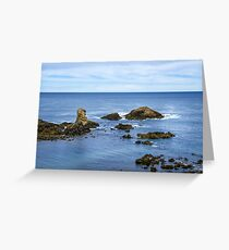 Idyllic view of a coast in Spain Greeting Card