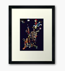 Renaissance Europe National Personification Map Framed Print
