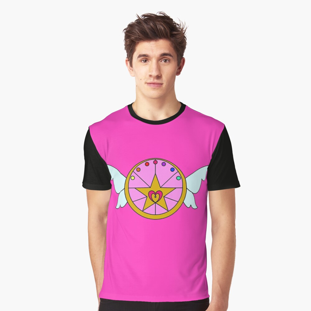 Magical Girl Brooch Graphic T-Shirt Front