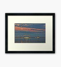 Moonlight On The Bay   Framed Print