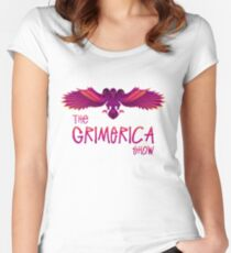 Grimerica Show Art by listener Caley C without Background Women's Fitted Scoop T-Shirt