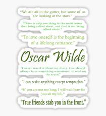 Oscar Wilde Quotes Sticker