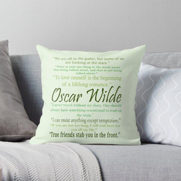 Oscar Wilde Quotes Throw Pillow