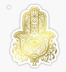 Royal Golden Hamsa Hand Sticker