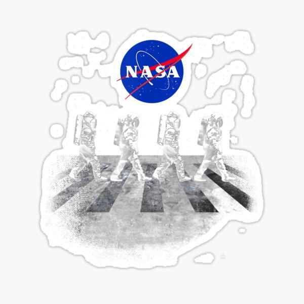 Walking Astronauts in Space Sticker