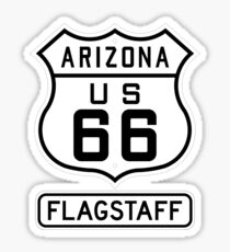 Historic Route 66 - The Mother Road - Flagstaff Sticker