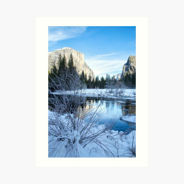 Winter landscape in Yosemite, California Art Print