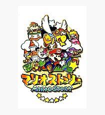 JP Paper Mario Box Art/ Mario Story マリオストーリー Box Art Photographic Print