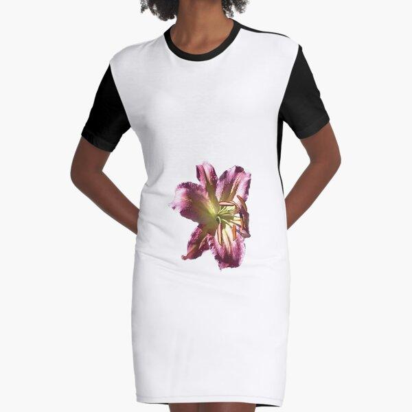 Colourful Lilium Flower. Print, T-shirts & much more. Graphic T-Shirt Dress
