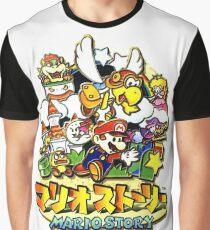 Camiseta gráfica JP Paper Mario Box Art / Mario Story ー リ リ オ ー ー ー ー Art Box