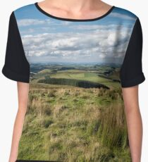 Scotland view from the English borders Chiffon Top