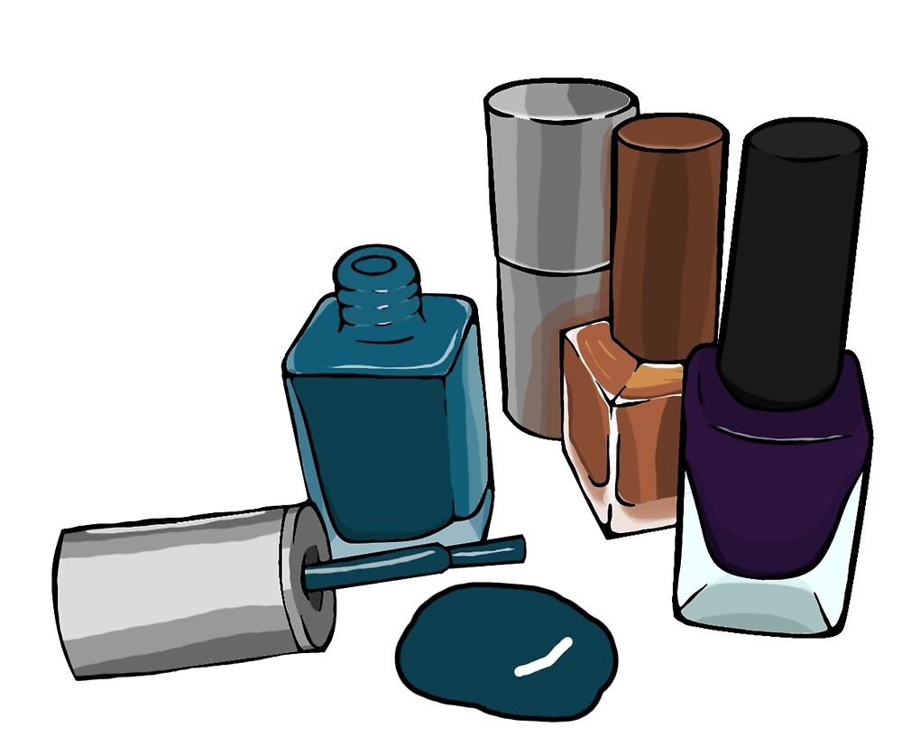 """Nail Polish Bottle Digital Drawing "" By Penelope"