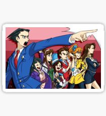 Ace Attorney Defense  Sticker