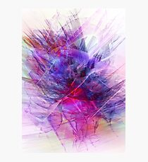 Digital Floral Abstract Photographic Print