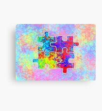 Autism Colorful Puzzle Pieces Metal Print