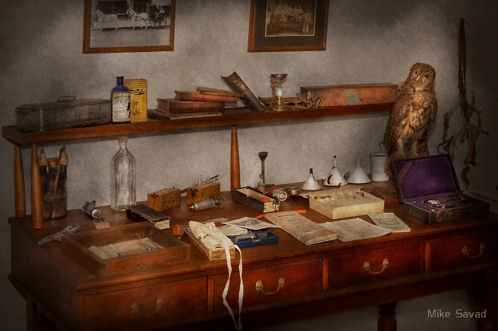 Doctor - Vet - The desk of a Veterinarian by Michael Savad