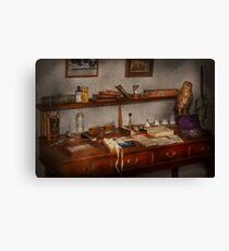 Doctor - Vet - The desk of a Veterinarian Canvas Print