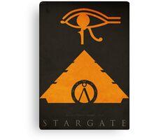 The Sun 'God' - (Stargate 1994 Negative-Space Print) Canvas Print