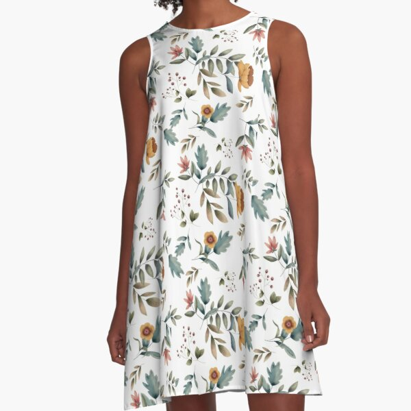 Water color Illustration Design Dress A-Line Dress