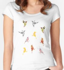 Summer Birds Women's Fitted Scoop T-Shirt