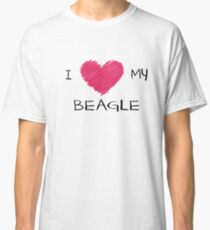 I Love My Beagle Cute Dog Lover Design Classic T-Shirt