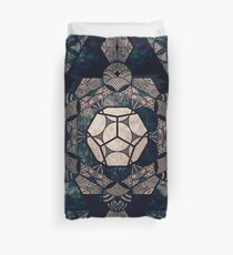 Sacred Geometry Mix- Platonic Solids Duvet Cover