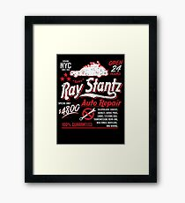 Ray Stantz Auto Repair Framed Print