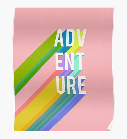 Adventure in Pink Poster