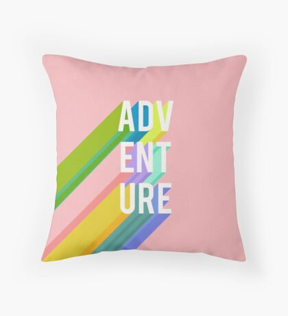 Adventure in Pink Throw Pillow