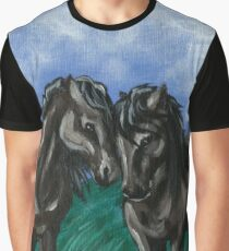 Nuzzling Horses Graphic T-Shirt