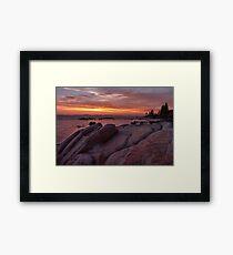 Zephyr Cove Sunset  Framed Print
