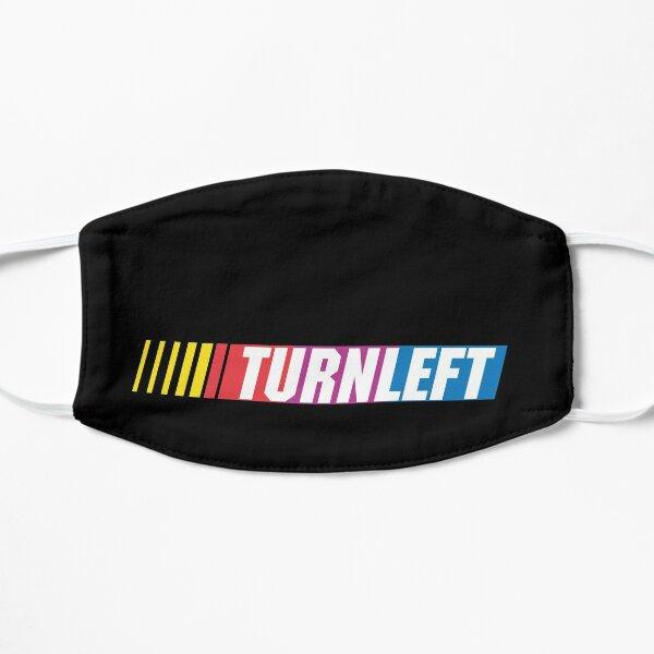 oval: TURN LEFT Flat Mask