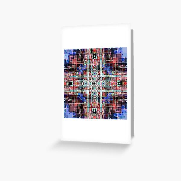 Geometric Grid Greeting Card